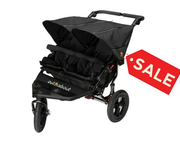 Out n About Nipper Double Buggy Raven Black SALE