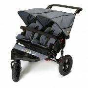 Out n About Nipper Double Buggy Steel Grey