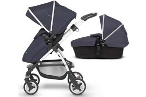Silver Cross Wayfarer Pram System Midnight Blue