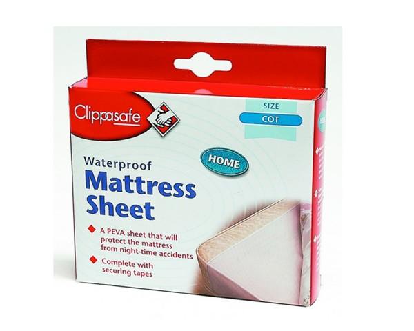 Clippasafe Waterproof Mattress Sheet Cot Size