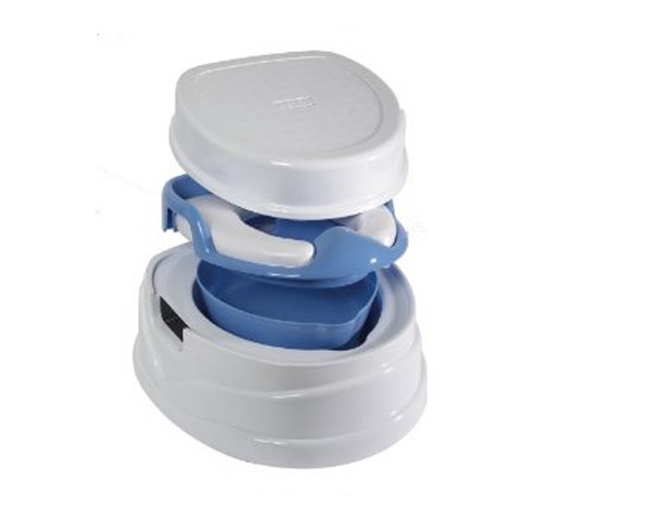 Tippitoes Soft Seat Trainer Potty & Step Stool Blue