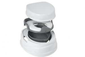 Tippitoes Soft Seat Trainer Potty & Step Stool Grey