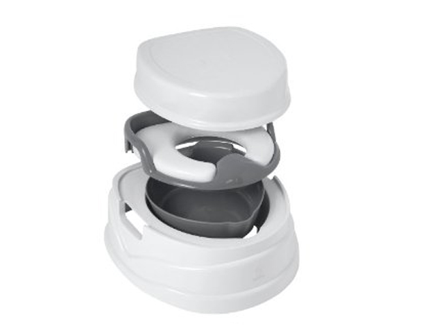Tippitoes Soft Seat Trainer Potty Amp Step Stool Grey