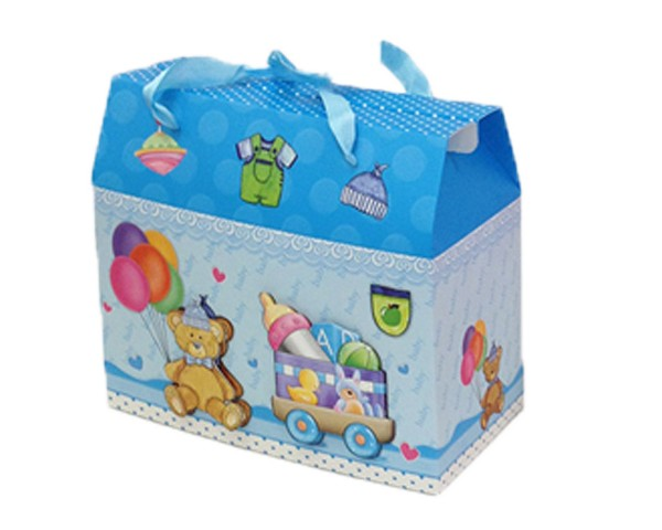 Baby Bow Baby Gift Box Blue