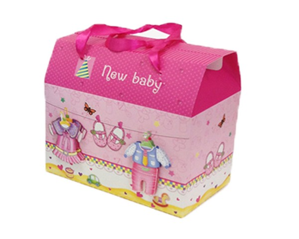 Baby Bow Baby Gift Box Pink