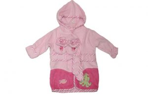 Baby Bow Bath Robe & Bootie Set Pink