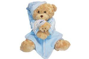 Baby Bow Bedtime Bear – Blue