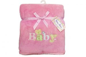 Baby Bow Micro Fur Twin Layer Blanket Pink