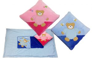 Baby Bow Quillow - Pillow That Opens Into A Blanket