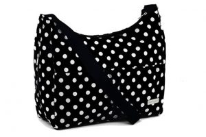 Baby Elegance Everyday Tote Bag Black Polka Dot