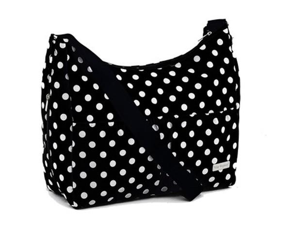 Baby Elegance Everyday Tote Bag Black Polka Dot