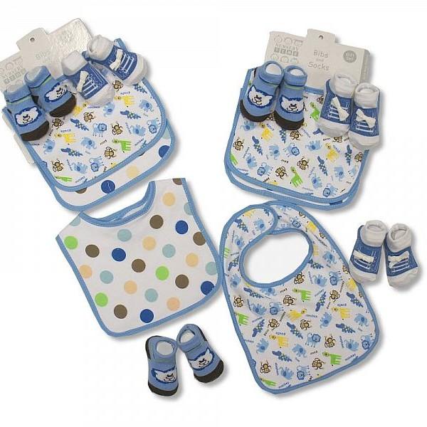 Bibs & Socks Set Blue