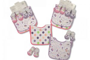 Bibs & Socks Set Pink