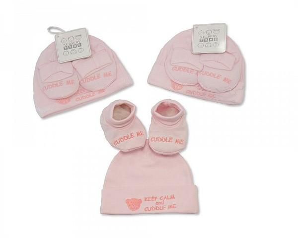 Hat & Booties Pink