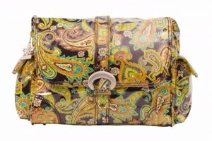 Kalencom Laminated Buckle Bag Multi Paisley Pistachio