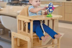 East Coast Combination Wooden Highchair 3