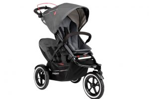 Phil & Ted Sport Navigator Inline Stroller With Double Kit Attached In Charcoal Grey