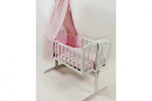 BR Nursery Stockholm Swinging Crib White