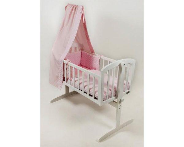 BR Nursery Stockholm Swinging Crib White