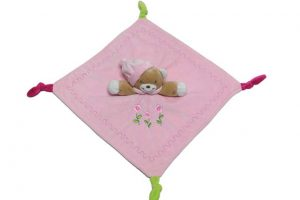 BabyBow soft bear comforter PINK