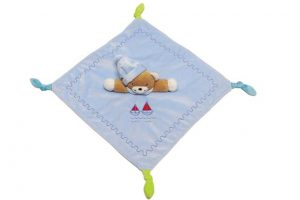 BabyBow soft bear comforter blue