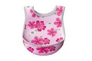 Nuby Neoprene Bib Pink Flowers