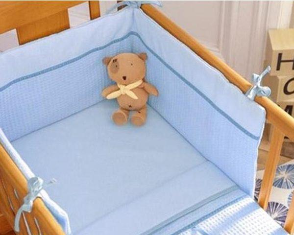 Izziwotnot Crib Set Blue