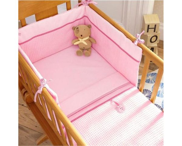 Izziwotnot Crib Set Pink