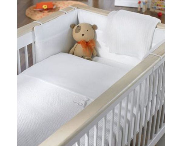 Izziwotnot Crib Set White