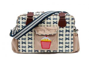 Yummy Mummy Bag Navy Bow