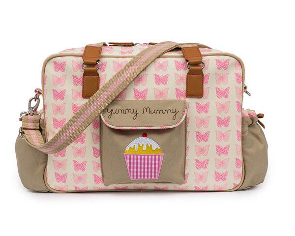 Yummy Mummy Bag Pink Butterfly