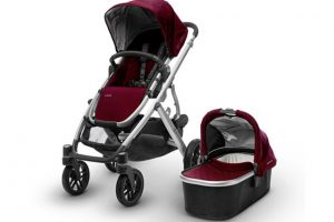 Uppa Baby Vista Travel System Twin - Burgundy