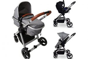 Babylo Panorama Travel System - Herringbone Grey Chrome 1