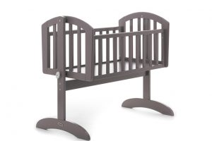 BR Nursery Stockholm Swinging Crib Grey