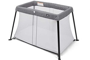 Babylo Liteway Travel Cot - Grey Mélange