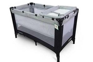 Cute Baby Travel Cot with Bassinet & Changer