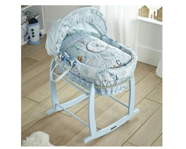 Clair-de-Lune Wicker Moses Basket - Forty Winks