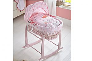 Clair-de-Lune Wicker Moses Basket - Tippy Toes