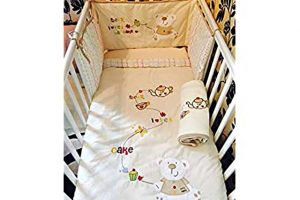 Cutebaby 4pc Bedding Set- Tea & Cream