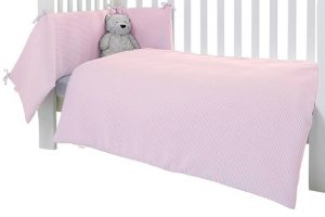 Clair de Lune 2pc Bedding Set - Waffle - Pink