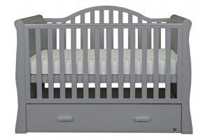 Oslo Sleigh Cot Bed - Grey